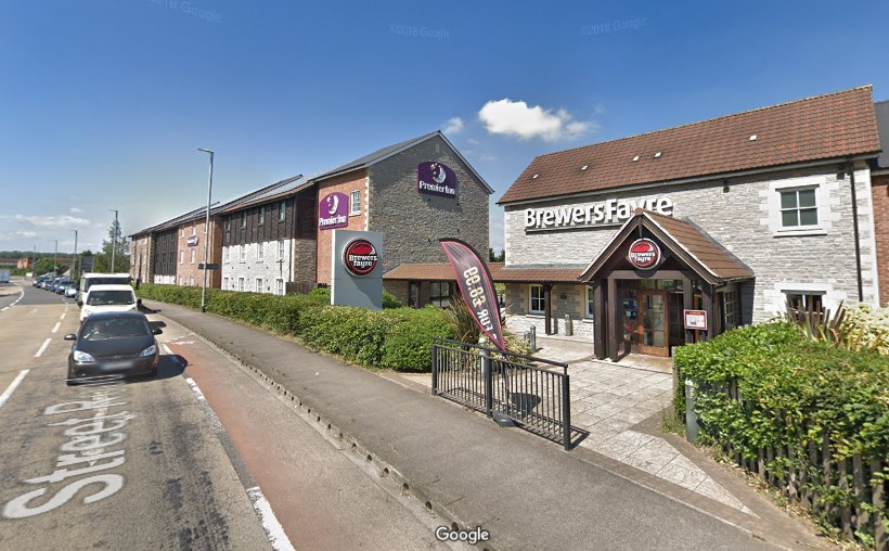 163 miles Glastonbury Premier Inn(1)